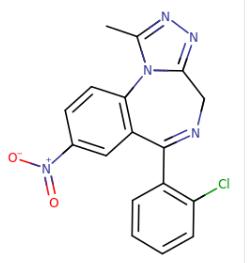 clonazolam moleculaire formule