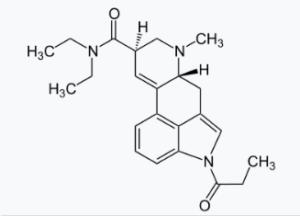 P-LSD moleculaire weergave