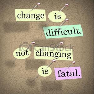 veranderen noodzakelijk