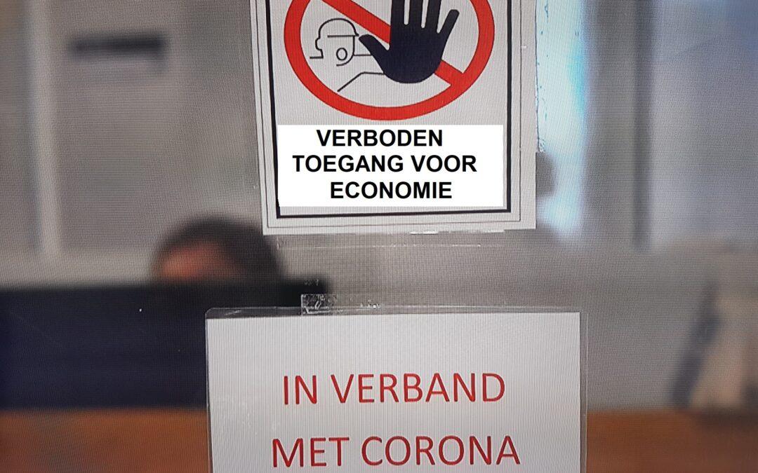 verb verboden toegang voor economie in verband met coronao