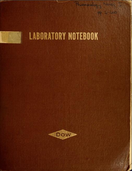 Laboratorium Notebook van Sasha Shulgin